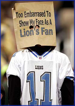 Lions fan miserable