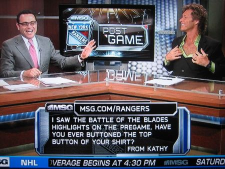 Ron duguay ranger legend and chest hair whisperer
