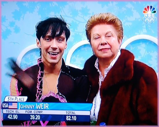 Johnny Weir moments before interview in Adrians flower shop