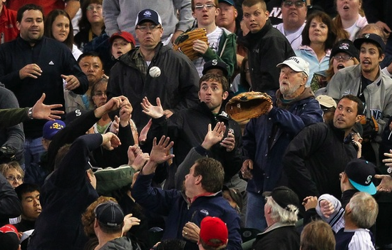 Foul balls scare the piss out of white people