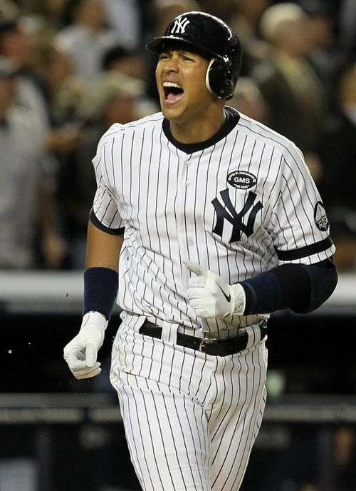 ARod reacts after bat gets lodged in anal cavity