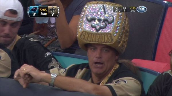 Saints Super Bowl ring head