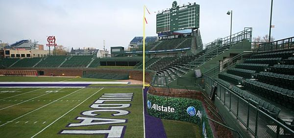 Northwestern Illinois game at Wrigley shitshow