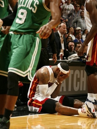 LeBron terribly upset