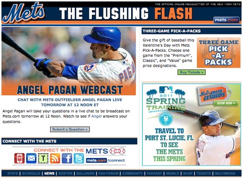 Mets live chat Angel Pagan