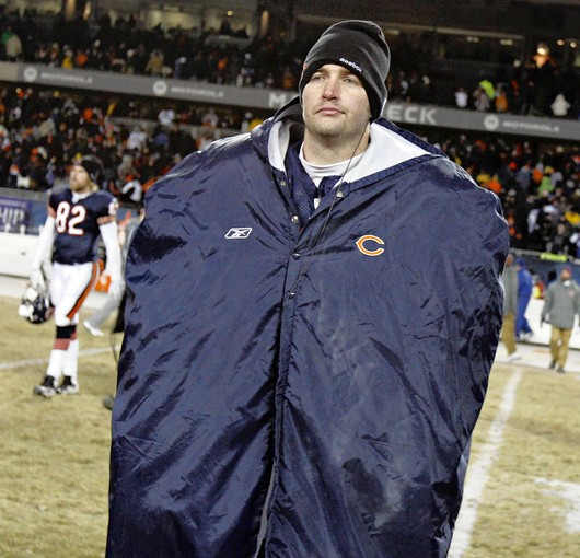 Jay Cutler hides from scrutiny