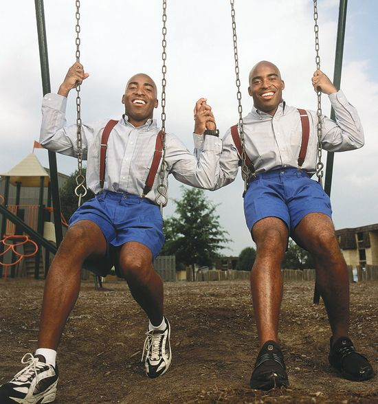 Tiki and Ronde Barber swingset