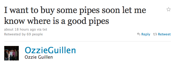 Ozzie Guillen likes-a the Twitter