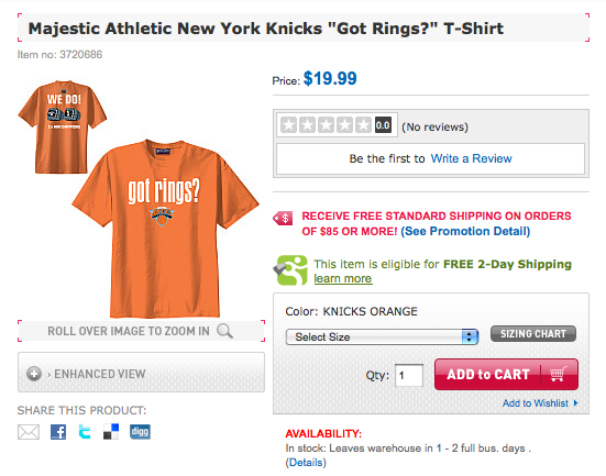 NY Knicks awful rings shirt