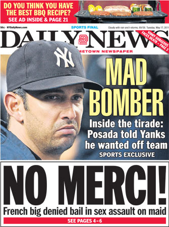 Yankees Posada Cashman tickle fight