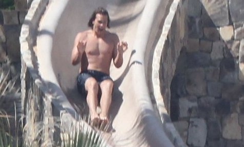 Tom Brady waterslide