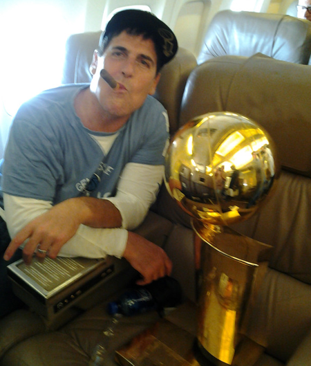 Mark Cuban NBA trophy