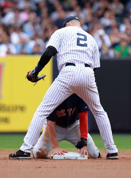 Ellsbury-and-Jeter-get-well-past-2nd-base-at-2nd-base
