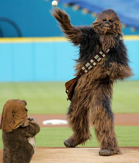 Chewbacca-first-pitch