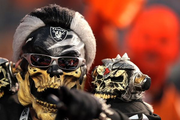 Oakland Raider fans insane