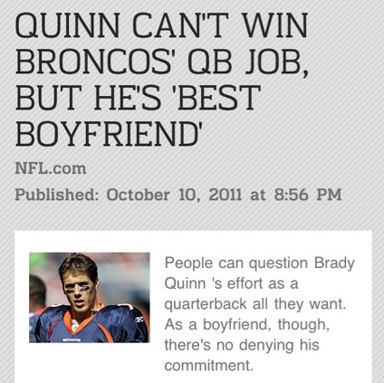 Brady Quinn ultimate boyfriend