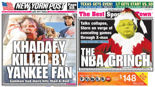 NY Post The Stern that Stole the Acorns