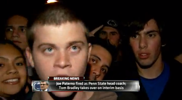 Stoned Penn State student