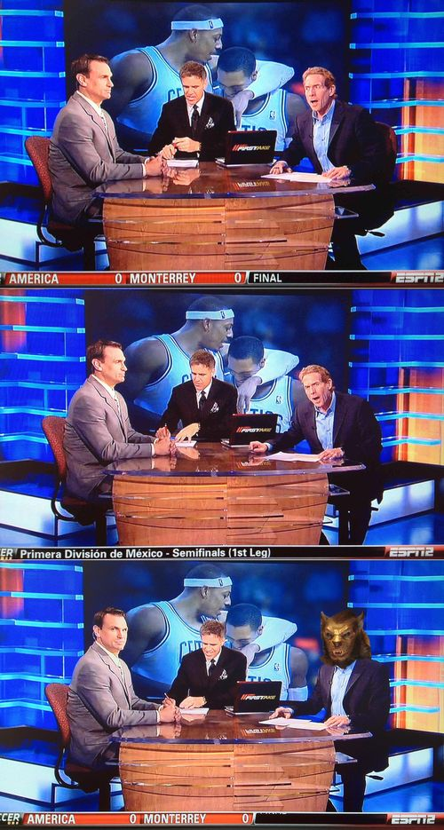 Skip bayless turns into werewold on espn first take