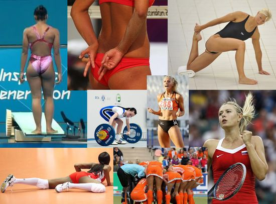 Hot olympic girls unaware they are in creepy guys spank bank