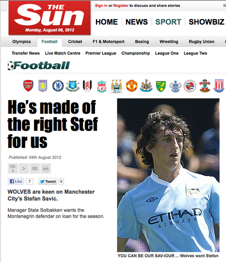 The Sun stefan savic article that has set the standard for journalism