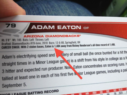 Adam Eaton Baseball Card