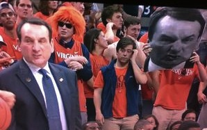 Coach K angry Coach K head