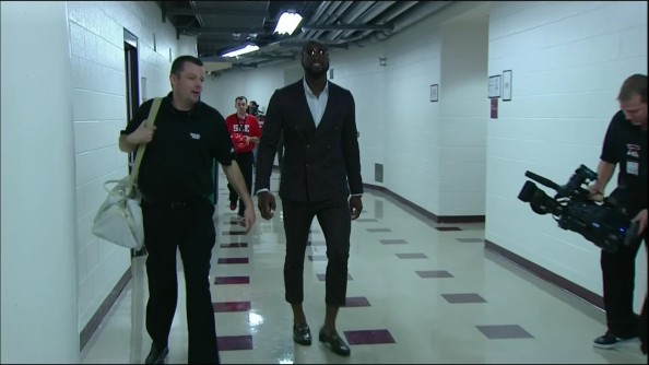 Dwayne Wade wears Webster's pants