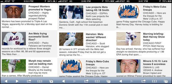 ESPN mobile site Mets